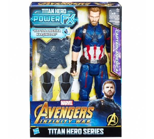 Avengers Infinity War Titan Hero Power FX Captain America Figür E0607