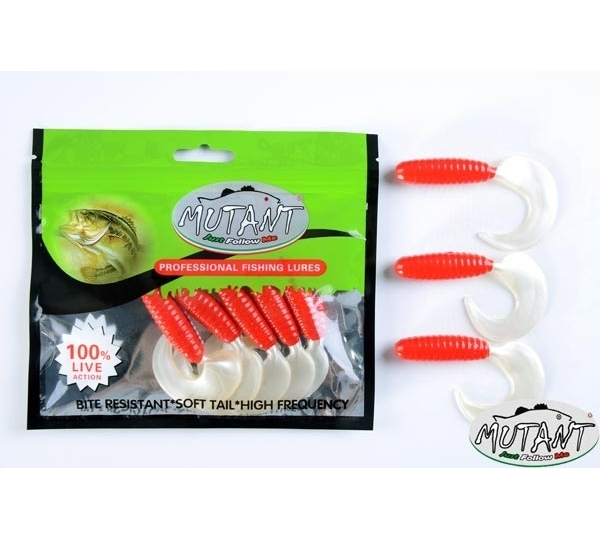 3545 RUNNER  TAIL  8.2 CM  5 Lİ PK     RED-WHITE
